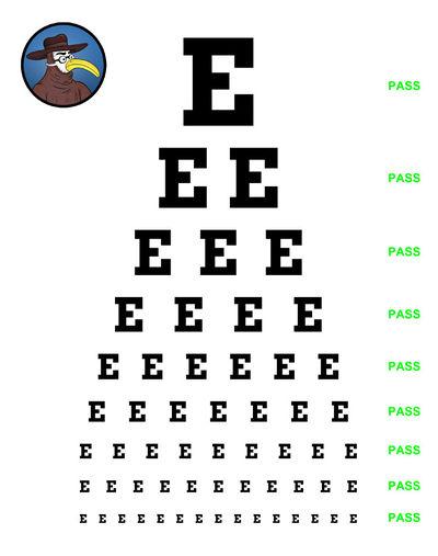 Simplified Snellen Eye Chart Gomerpedia